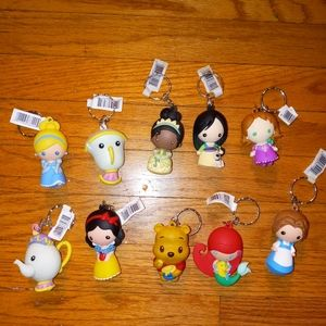 NWT Disney licensed keychains movie characters